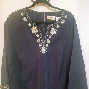 Alfred Dunner Woman Navy Blue Sz 20W Shirt